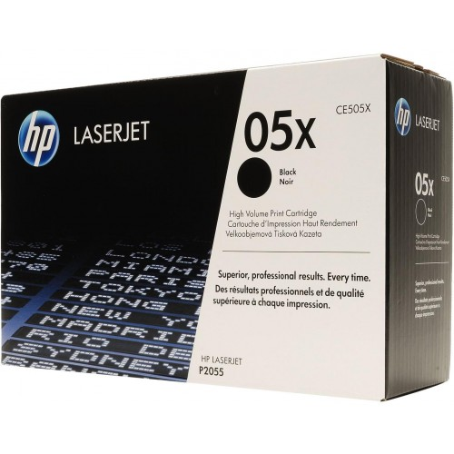 05X High Yield Black LaserJet Toner Cartridge (CE505X)
