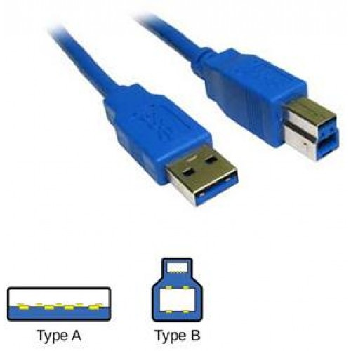 Male USB Type A To Male USB Type B Cable