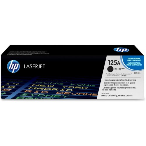 125A Black LaserJet Toner Cartridge (CB540A)
