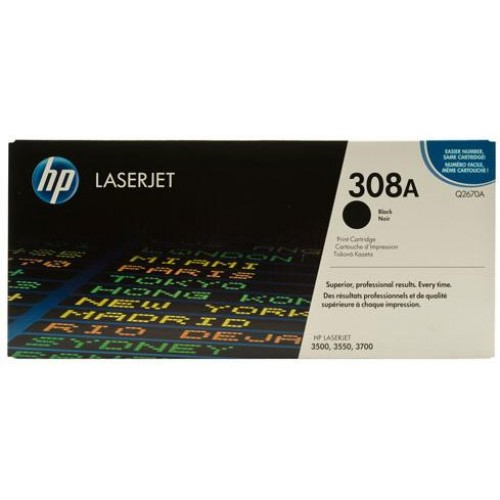 308A Black LaserJet Toner Cartridge (Q2670A)