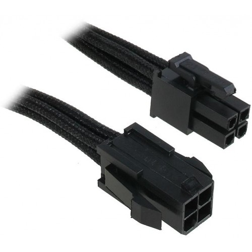 ATX 4-pin Male to 4-pin Female Extension Cable - Black