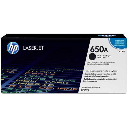 650A Black LaserJet Toner Cartridge (CE270A)