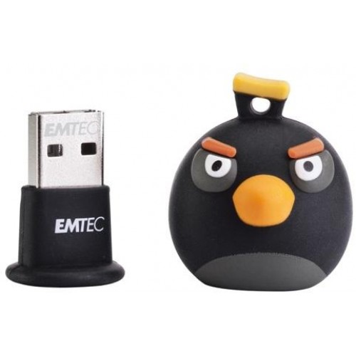 Angry Birds 8GB Rubber Flash Drive - Black Bird