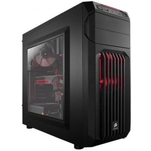 Carbide SPEC-01 Mid Tower Chassis - Black with Red LED