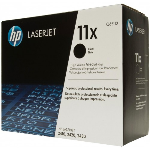 11X High Yield Black LaserJet Toner Cartridge (Q6511X)