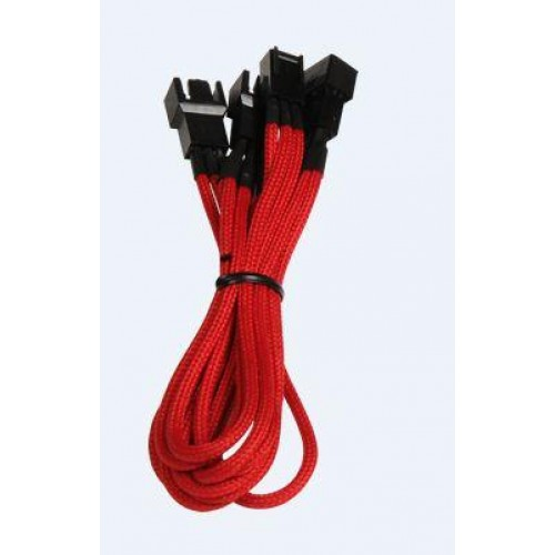 Alchemy 1 x 3-pin to 3 x 3-pin Power Extension Cable - Red