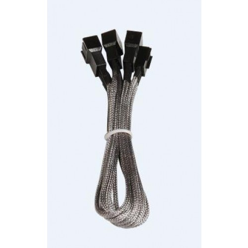 Alchemy 1 x 3-pin to 3 x 3-pin Power Extension Cable - Silver