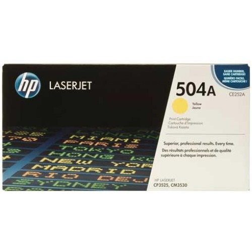 504A Yellow LaserJet Toner Cartridge (CE252A)