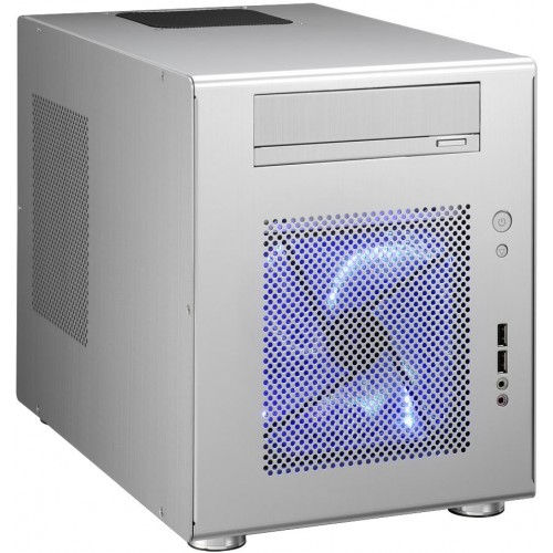 Q08 PC-Q08A Mini Tower Chassis - Silver