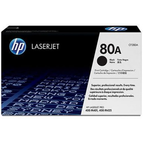 80A Black LaserJet Toner Cartridge (CF280A)