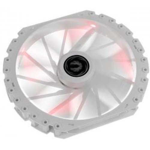 Spectre Pro LED 230mm Chassis Fan - White With Red LED (BFF-WPRo-23030R-RP)