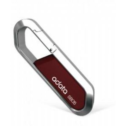 S805 8GB Flash Drive - Silver & Red, Zinc Alloy Frame