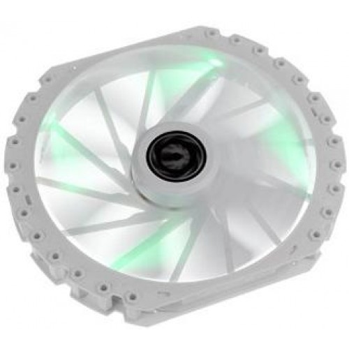 Spectre Pro LED 230mm Chassis Fan - White With Green LED (BFF-WPRo-23030G-RP)