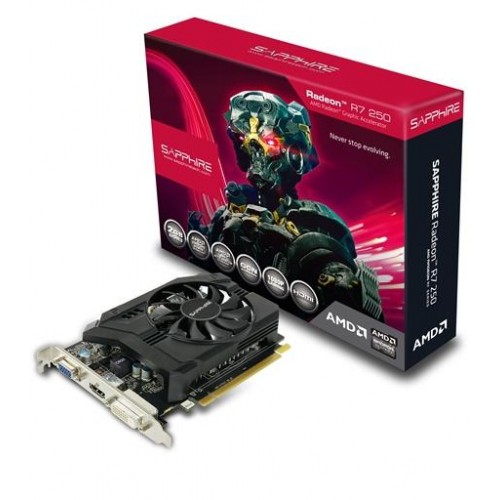 AMD Radeon R7 250 2GB DDR3 WITH BOOST Graphics Card (R7250-2G)