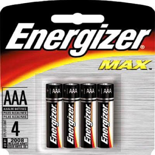 Size AAA Alkaline MAX - 4 per pack