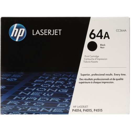 64A Black LaserJet Toner Cartridge (CC364A)
