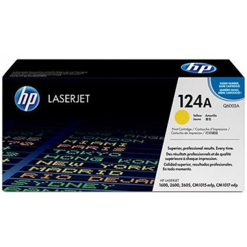 124A Yellow LaserJet Toner Cartridge (Q6002A)