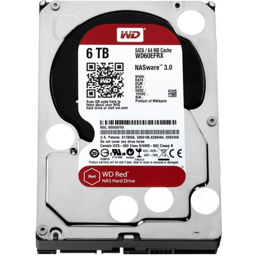 WD Red 6TB NAS Hard Drive (WD60EFRX)