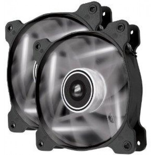 Air Series White Quiet Edition AF120 120mm Chassis Fan (Twin Pack) - White LED (Co-9050016-WLED)