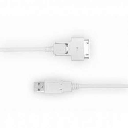 Male Apple 30 pin / MicoUSB connector To Male USB Cable - White (C-3X00-W1S0)