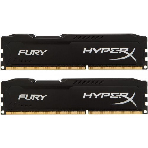 HyperX Fury 2 x 8GB 1600MHz DDR3 Desktop Memory Kit - Black (HX316C10FBK2/16)