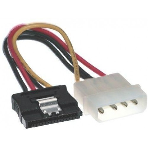 Male 4-Pin Molex To Female 15-Pin SATA Power Cable