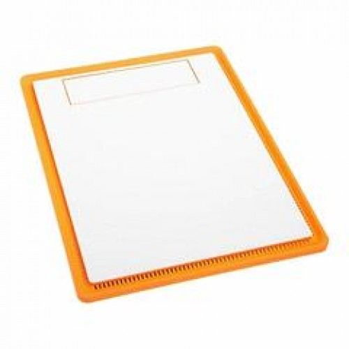 Solid Front Panel - White With Orange Highlight (BFC-PRo-300-WoFNA)