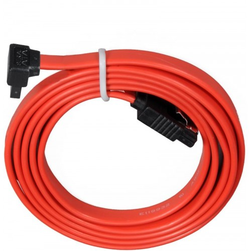SATA2 To SATA2 Right Angle Cable - Red